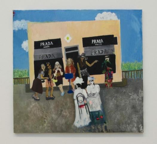 Prad, Marfa, Oil and Acrylics on canvas, 83x 87, 2019